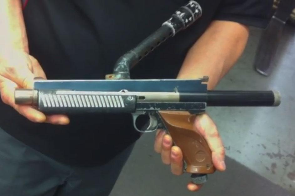 Derrick Obatake's Nelspot 007 Rail Gun - Paintball History