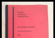 The World Paintball Federation Stat book for 2-3 quarters 1991