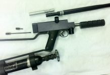 Left side view of the 62 caliber sniper 1