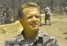 Richard Mansfield at paintball hill