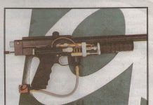 Crop of super sniper, October 19th, 1996 from paintball news.