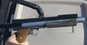 Jack Wada's Stan Russell Rail Gun. Close up right side.