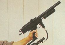 Crop from April 1990 issue of Paintball Sport International showing the new Sniper 2.