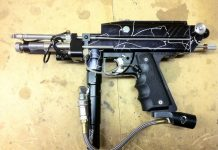 A Boston Paintball Reflex kit assembled on a Boston Paintball Express body.