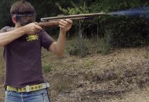 Dan shooting KL-20 Lever Action Rifle in summer of 2014.