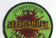 Aftershock patch from early to the mid 1990s.