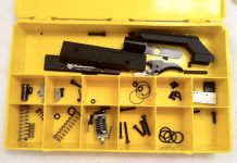 A yellow Air Power parts box for the Vector. The thin orings are the valve body orings which are the most difficult to replace.