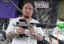 Ric De La Cruz showing off his Belsales Bart's Stud Squad Sniper 2.