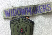 Stanley Russell's Widowmakers patch. C. 1987-1988.