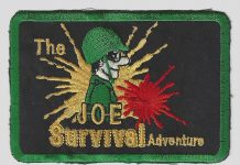 Joe Survival patch scan. C. mid 1980s.