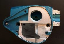 Light Blue Breech assembly for Alien Revelation Paintball marker.