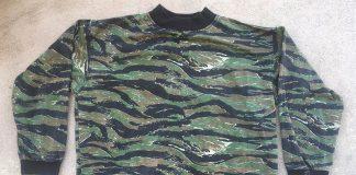 Unbranded exterior Renegade Tiger Stipe pullover.