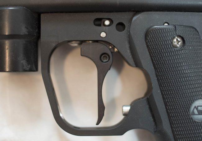 Close up view of Medusa Autococker Frame.
