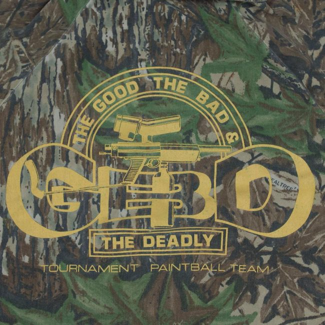 Real Tree Spartan Camo shirt from Glenn Forster with GBD logo.