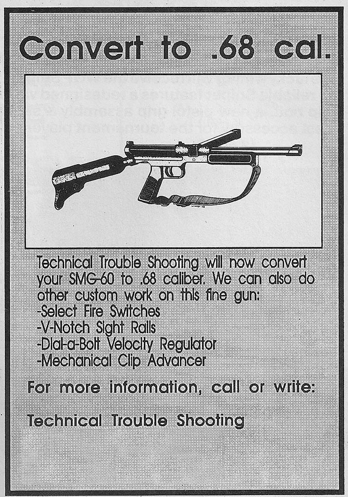 Technical Trouble Shooting ad published in the December 1989 issue of Action Pursuit Games. Incorrect address and phone number removed.