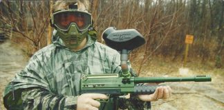 Sergey Levkov with his Technical Trouble Shooting modified VM-68 c.1992/93