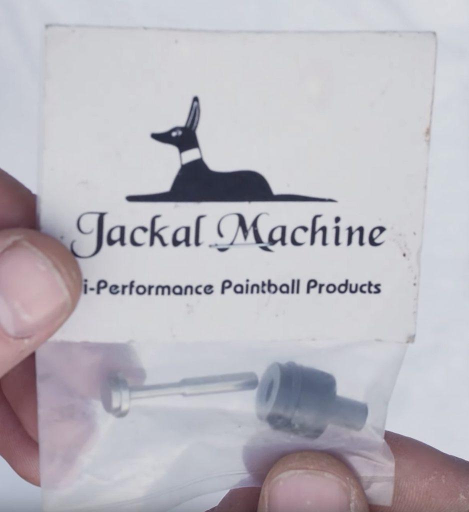Front of Jackal Machine Autococker valve packaging.