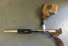 Stainless Body Nelson based pistol, with early in grip pin valve, and homemade pvc pump handle. Loader is assembled from an oil can.
