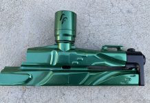 Left side of Detentless FreeFlow Rhythm Autococker body.