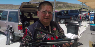 Jack Wada on his custom Stan Russell Rail Gun.