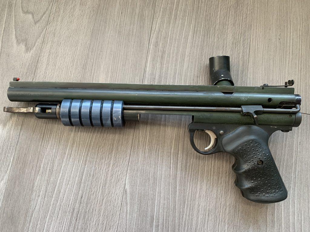 A custom Sheridan Rail Gun built by Dennis Martinez for Dennis Igarashi