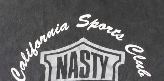 Nasty Boys back Silkscreen logo close up