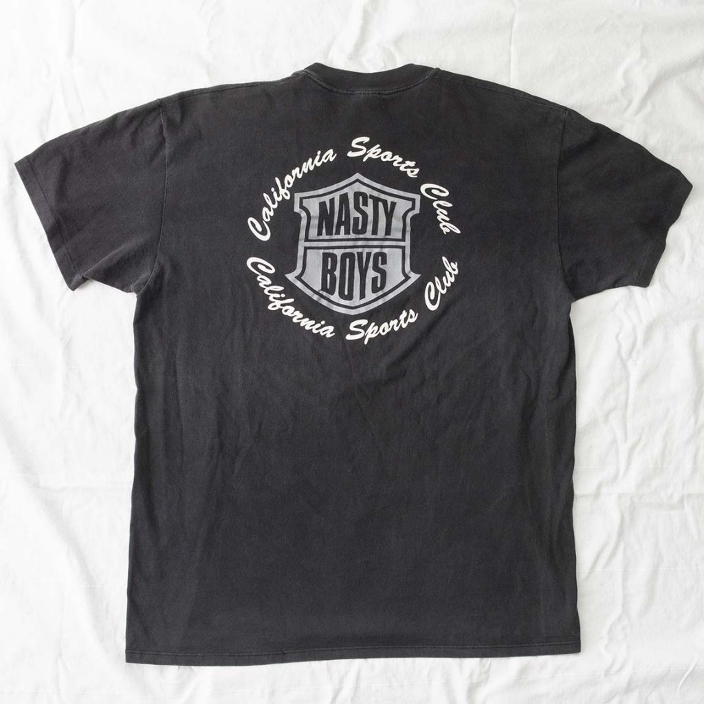Back of Nasty Boys T Shirt