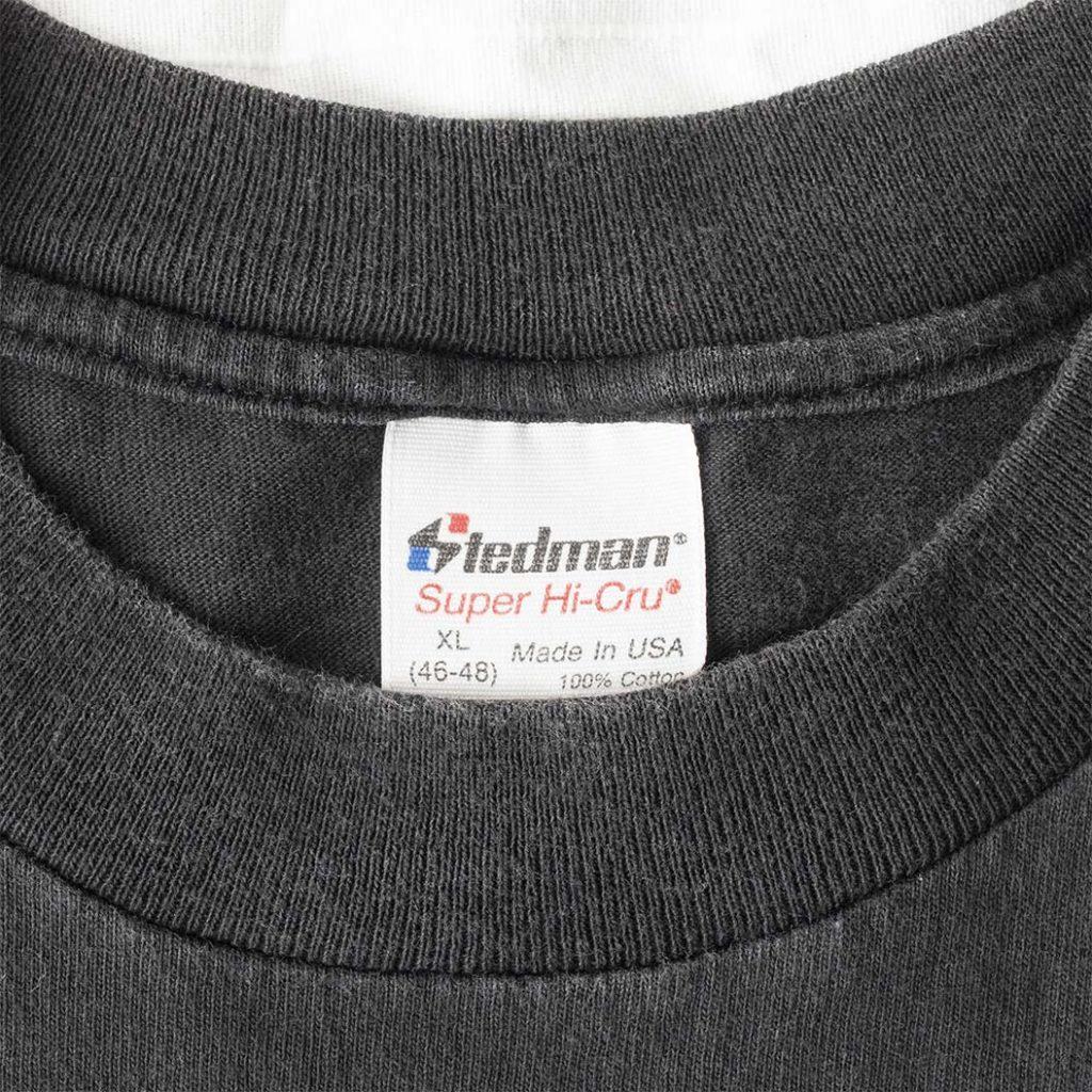 Tag detail on Nasty Boys Black Short Sleeve T Shirt